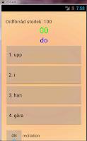 Screenshot of Engelska för talare av svenska