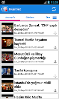 Screenshot of Türkiye Haberler