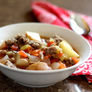 Green Chili Stew with Sausage and Tomatoes