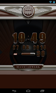Digi Clock Widget Brown Star Screenshot