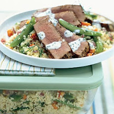 Fennel-Crusted Ahi Tuna with Lemon Aïoli Over Couscous