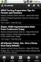 Screenshot of Racine,WI School News and Info