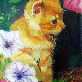 Kitty Kitty by Patty Bingham - Painting All Painting