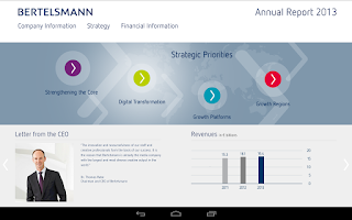 Screenshot of Bertelsmann Annual Report 2013