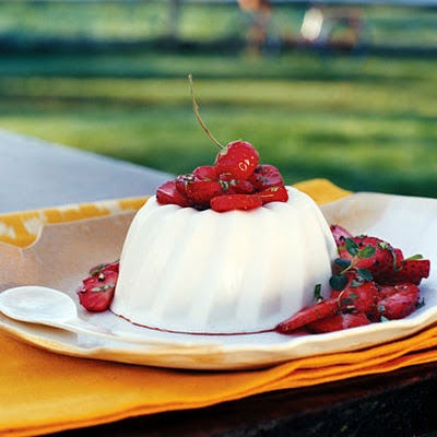 Goat Cheese and Honey Blancmange