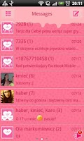 Screenshot of GO SMS Pro Crazy Hearts Theme