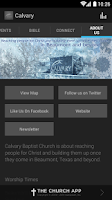 Screenshot of Calvary Baptist Church App