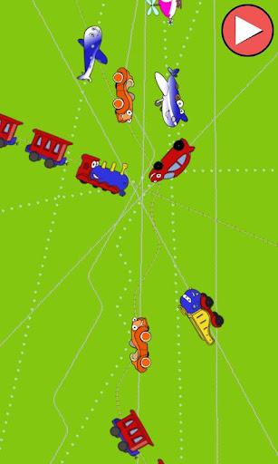 火車,汽車和飛機的孩子