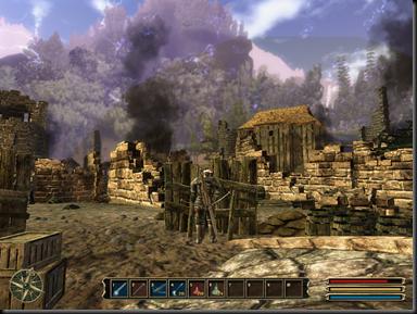 La barrera mágica reaparece en Gothic 3.