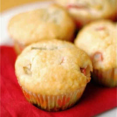 Browned Butter Rhubarb Muffins
