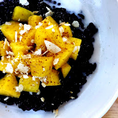 Black Rice, Coconut And Mango Pudding
