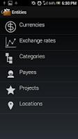 Screenshot of Flowzr Budget Finance Expense