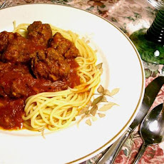 Slow Cooked Spaghetti and Meatballs