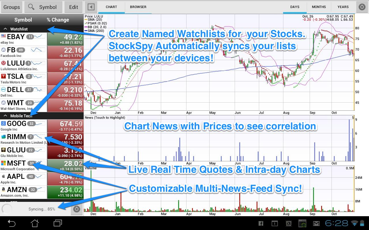 Stocks: Realtime Quotes Charts Screenshot 5