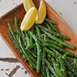 Roasted Lemon Garlic Green Beans