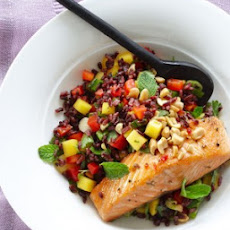 Thai Black Rice Salad with Wild Salmon