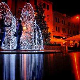 by Josip Kopčić - Public Holidays Christmas ( holiday lights, , city, night, Lighting, moods, mood lighting, Urban, City, Lifestyle, mood, mood factory, holiday, christmas, hanukkah, red, green, lights, artifical, lighting, colors, Kwanzaa, blue, black, celebrate, tis the season, festive, #GARYFONGDRAMATICLIGHT, #WTFBOBDAVIS )