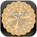 ALARM WORLD QLOCK Gold LWP icon