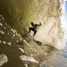 Ben falling into the lip by Dave Nilsen - Sports & Fitness Surfing