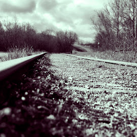 Cloudy With A Chance of Railroads by Nikolaj Hansen - Landscapes Travel ( clouds, old, nature, railroad, manmade, denmark,  )