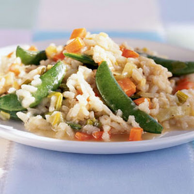 Risotto with Sugar Snap Peas and Spring Leeks