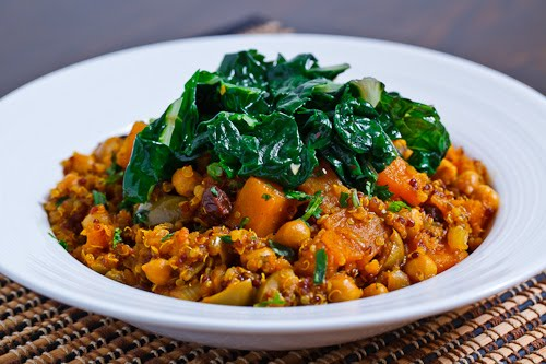 Moroccan Butternut Squash, Chickpea and Quinoa Tagine Recipe | Yummly