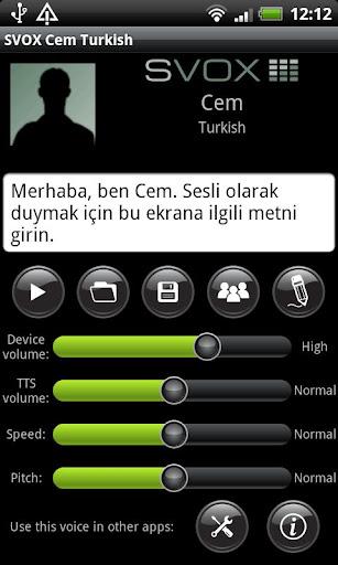 SVOX Turkish Türk Cem Voice