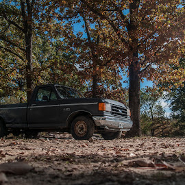My Truck by Andrew Hershfeld - Transportation Automobiles ( fall colors, truck, tough, grey, ford )