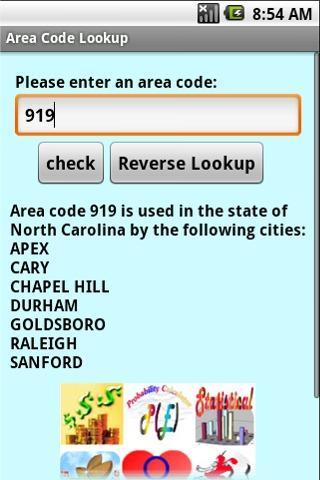 Area Code Lookup