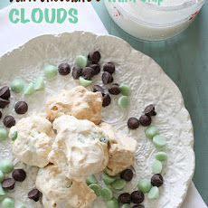 Dark Chocolate and Mint Chip Clouds