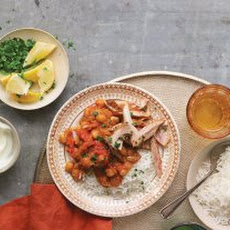 Tomato Chickpea Curry with Chicken Recipe