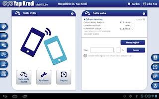 Screenshot of Yapı Kredi Mobil Bankacılık HD