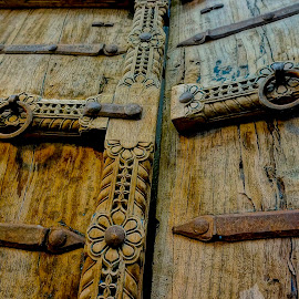 Carved by Barbara Brock - Artistic Objects Other Objects ( wood texture, carved wooden doors, old wooden doors, wood doors )