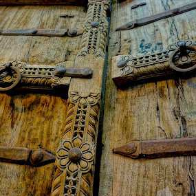 Carved by Barbara Brock - Artistic Objects Other Objects ( wood texture, carved wooden doors, old wooden doors, wood doors,  )