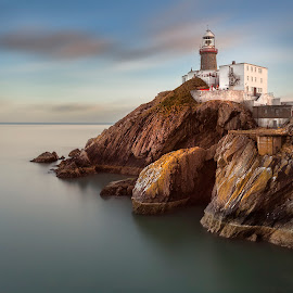 Baily Lighthouse Dublin by Peter Krocka - Buildings & Architecture Public & Historical ( ireland, sunset, dublin, lighthouse )