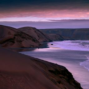 Sunrise and dunes by Cristobal Garciaferro Rubio - Landscapes Beaches ( clouds, dunes, rise, waves, sea, sunrise, beach )