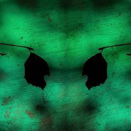 Synkkyyden pyörteissä by Niina Hakkarainen - Digital Art Abstract