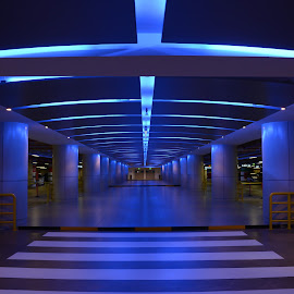 PARKING PATHWAY by Eduardo Seastres - Buildings & Architecture Architectural Detail ( #arichitecture, #pathway, #parkinglights, #artistic,  )