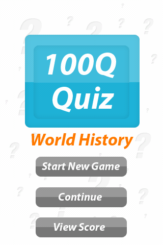 World History - 100Q Quiz