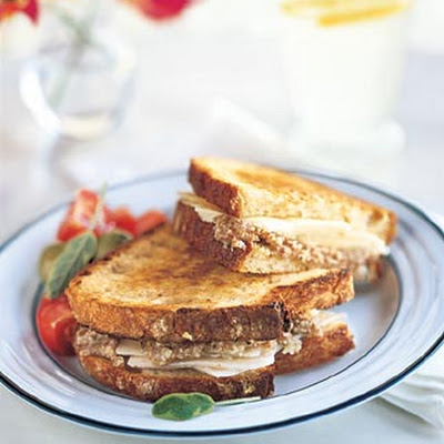 Toasted Almond and Pecorino Sandwiches