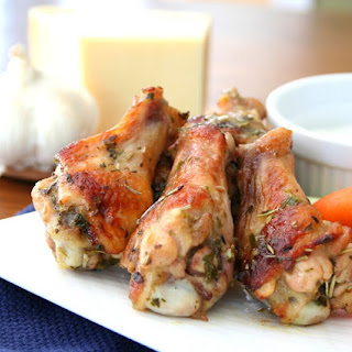 Garlic Parmesan Wings (Low Carb) - adapted from Steamy Kitchen