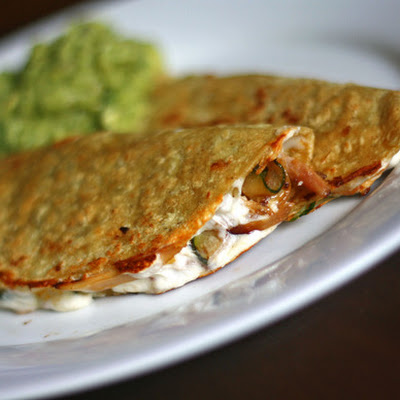 Quick Chicken and Zucchini Quesadillas