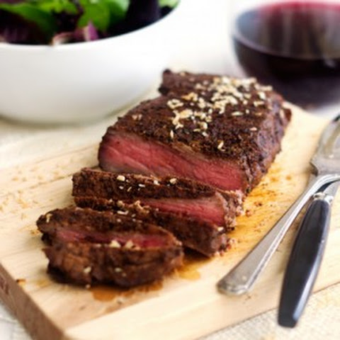 Chocolate Coffee Rubbed Steak with Coconut