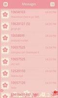 Screenshot of GO SMS/GOLauncher Flower theme