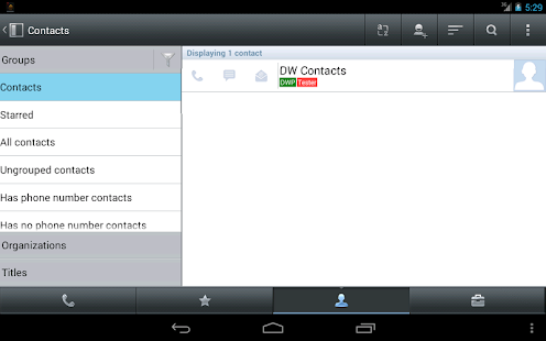 Business Theme for DW Contacts - screenshot
