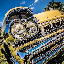 Yellow Chrome by Brian Kerr - Transportation Automobiles ( car, automobile, chrome, yellow, mercury,  )