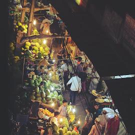 and the good life by Mahmudul Alam Zisan - City,  Street & Park  Markets & Shops ( bangladesh, market, 50mm, night, d3200, nikon, dhaka )