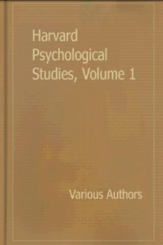 Harvard Psychological Studies