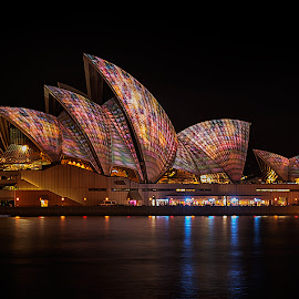Sydney Opera House by Jim Merchant - Buildings & Architecture Statues & Monuments ( music, vivid, long exposure, opera house, sydney,  )