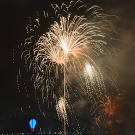 Just Like Glitter by Kamila Romanowska - Abstract Fire & Fireworks ( new year, 2015, australia, fireworks, nye, celebration, sydney )